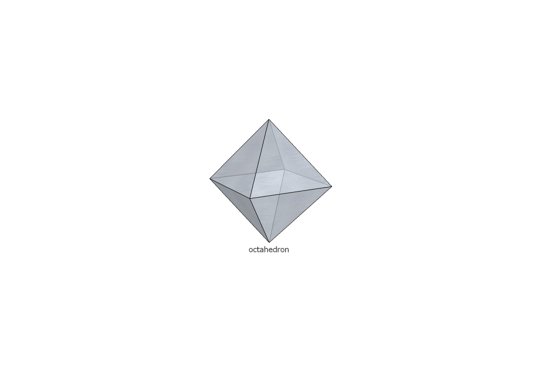 ...various geometric solids or regular pyramid, octahedron rhombic Links to open a...